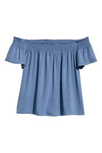 Off-the-shoulder top - Pigeon blue - Ladies | H&M 2