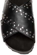 Studded mules - Black - Ladies | H&M 4