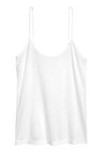 Silk strappy top - White - Ladies | H&M 2