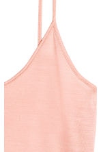 Silk strappy top - Powder pink - Ladies | H&M CN 3
