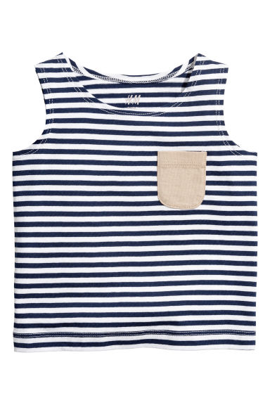 Vest top - Dark blue/Striped - Kids | H&M CN 1