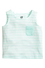 Vest top - Mint green/Striped - Kids | H&M CN 1