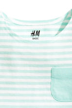 Vest top - Mint green/Striped - Kids | H&M CN 2