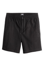 Knee-length cotton shorts - Black - Men | H&M 2