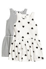 2-pack jersey dresses - White/Heart -  | H&M 2