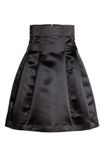 Flared satin skirt - Black -  | H&M 2