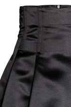 Flared satin skirt - Black -  | H&M 3