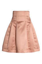 Flared satin skirt - Powder pink -  | H&M 2