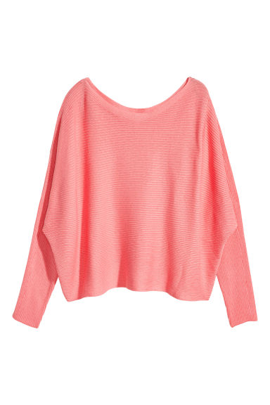 Ribbed jumper - Coral pink -  | H&M 1