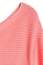Ribbed jumper - Coral pink -  | H&M 2