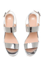 Platform sandals - Silver - Ladies | H&M CN 2