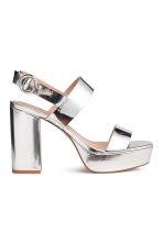 Platform sandals - Silver - Ladies | H&M 1