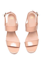 Platform sandals - Powder beige - Ladies | H&M CA 2