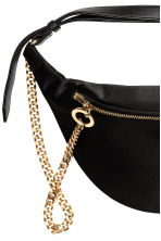 Waist bag with a metal chain - Black - Ladies | H&M CN 2