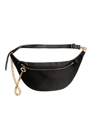 Waist bag with a metal chain - Black - Ladies | H&M CN 1