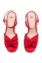 Sleehaksandalen - Rood - DAMES | H&M BE 2