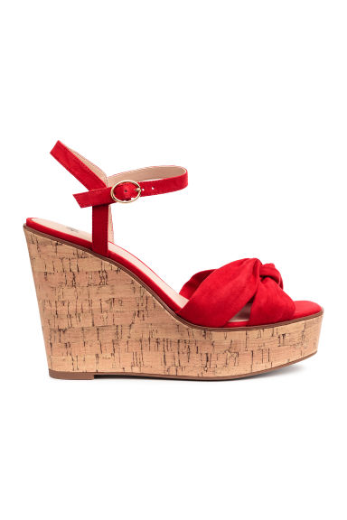 Sleehaksandalen - Rood - DAMES | H&M BE 1
