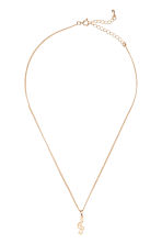 Necklace with a pendant - Gold/G-clef - Ladies | H&M CN 1