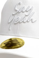 Cap with appliqué - White - Kids | H&M CN 2