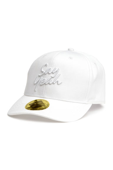 Cap with appliqué - White -  | H&M CN