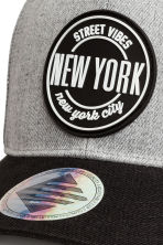 Cap with appliqué - Light grey/New York - Kids | H&M 4