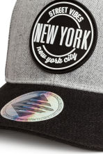 Cap with appliqué - Light grey/New York - Kids | H&M CN 5