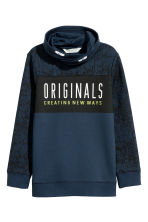 Printed sweatshirt - Dark blue - Kids | H&M CN 2