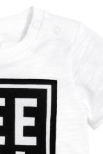 Printed T-shirt - White -  | H&M 2