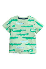 Printed T-shirt - Mint green/Crocodiles - Kids | H&M 1