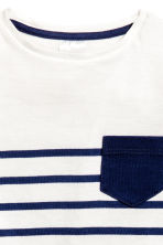 Striped T-shirt - White/Dark blue/Striped - Kids | H&M GB 2