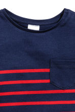 Striped T-shirt - Dark blue/Red striped - Kids | H&M 2