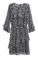 Flounced dress - Black/Small floral - Ladies | H&M 2