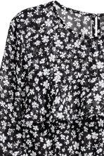 Flounced dress - Black/Small floral - Ladies | H&M 3