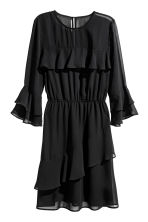 Flounced dress - Black - Ladies | H&M 2