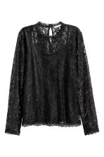 Long-sleeved lace top - Black - Ladies | H&M CA 2