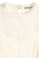 Long-sleeved lace top - Natural white - Ladies | H&M CN 3