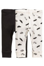 2-pack jersey leggings - White/Cars -  | H&M CN 1