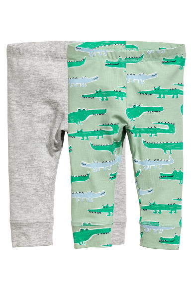2件入平紋內搭褲 - Mint green/Crocodiles -  | H&M 1