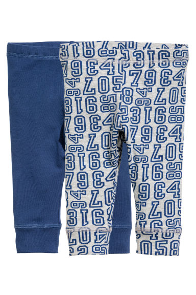 2-pack jersey leggings - Blue - Kids | H&M