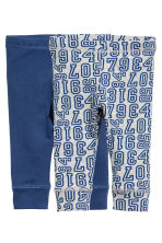 2-pack jersey leggings - Blue - Kids | H&M 1