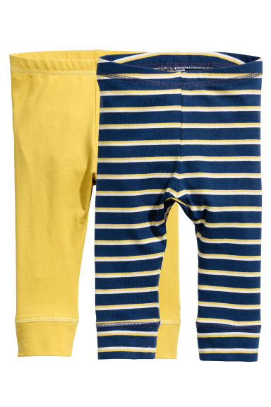 2-pack jersey leggings - Yellow -  | H&M 1