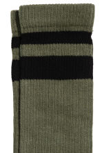 Terry socks - Dark khaki green - Men | H&M CN 2
