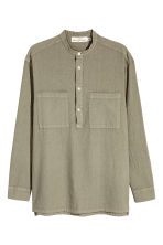 Linen-blend shirt Relaxed fit - Khaki - Men | H&M CN 2