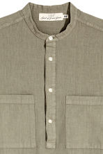 Linen-blend shirt Relaxed fit - Khaki - Men | H&M CN 3