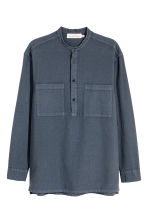 Linen-blend shirt Relaxed fit - Dark grey-blue - Men | H&M 2