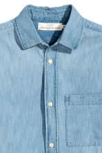Short-sleeved denim shirt - Light denim blue - Men | H&M CN 3