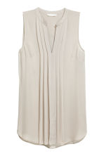 Sleeveless blouse - Light mole - Ladies | H&M 2