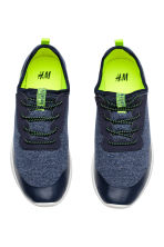 Sneakers in jersey - Blu scuro mélange -  | H&M IT 2