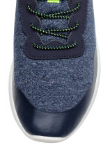 Sneakers in jersey - Blu scuro mélange -  | H&M IT 4