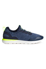 Jersey trainers - Dark blue marl -  | H&M 1
